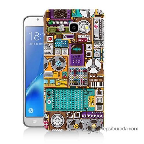 Teknomeg Samsung J7 2016 Kılıf Kapak Teknoloji Baskılı Silikon