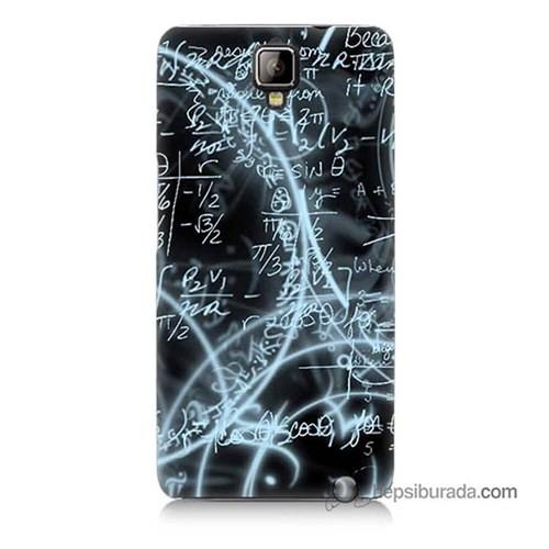 Teknomeg General Mobile Discovery 2 Plus Kapak Kılıf Matematik Baskılı Silikon