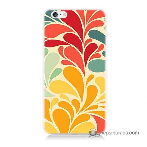 Teknomeg İphone 6S Kapak Kılıf Çiçekler Baskılı Silikon
