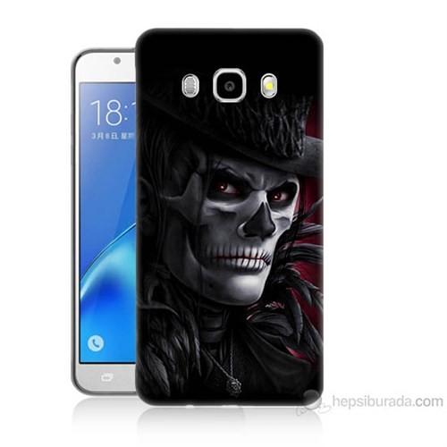 Teknomeg Samsung Galaxy J7 2016 Kapak Kılıf Kuru Kafa Baskılı Silikon