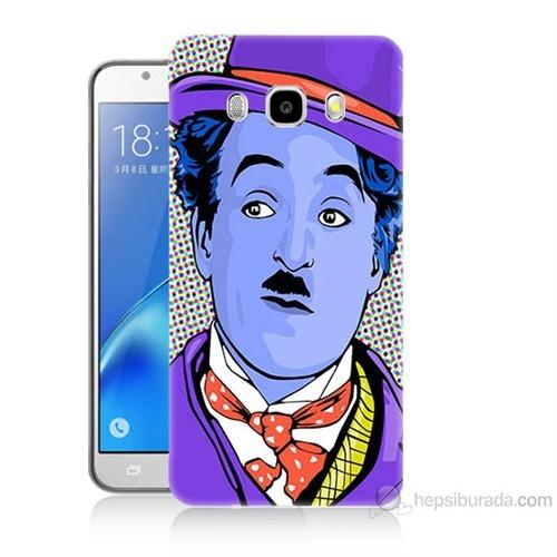 Teknomeg Samsung Galaxy J7 2016 Kapak Kılıf Charlie Chaplin Baskılı Silikon