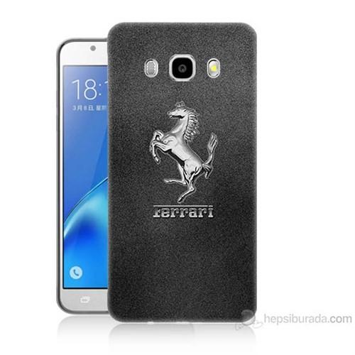 Teknomeg Samsung Galaxy J7 2016 Kapak Kılıf Ferrari Baskılı Silikon