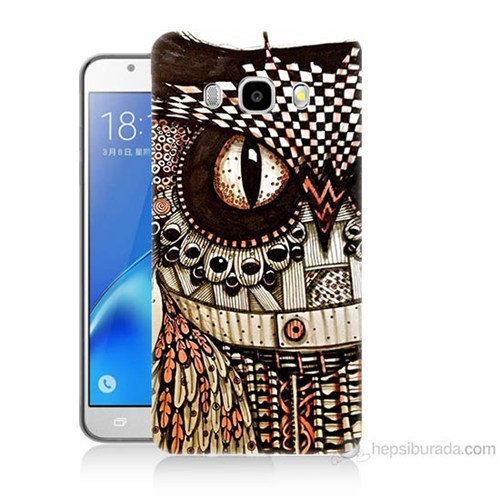 Teknomeg Samsung Galaxy J7 2016 Kapak Kılıf Baykuş Baskılı Silikon