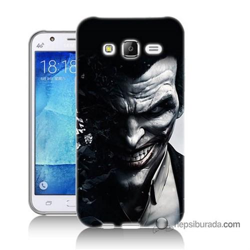 Teknomeg Samsung Galaxy J7 Kılıf Kapak Joker Baskılı Silikon
