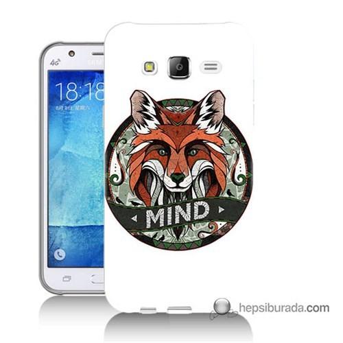 Teknomeg Samsung Galaxy J7 Kapak Kılıf Zeki Tilki Baskılı Silikon