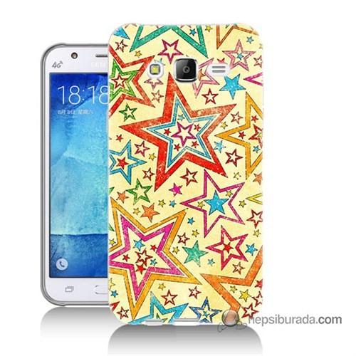 Teknomeg Samsung Galaxy J7 Kılıf Kapak Yıldızlar Baskılı Silikon