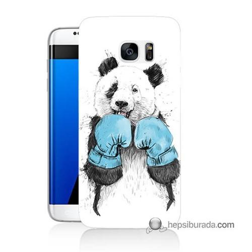Teknomeg Samsung Galaxy S7 Edge Kılıf Kapak Boksör Panda Baskılı Silikon