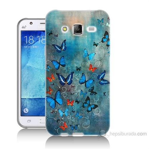 Teknomeg Samsung Galaxy J5 Kapak Kılıf Kelebekler Baskılı Silikon
