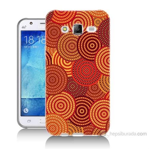 Teknomeg Samsung Galaxy J5 Kapak Kılıf Daireler Baskılı Silikon