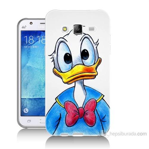 Teknomeg Samsung Galaxy J5 Kapak Kılıf Donald Duck Baskılı Silikon