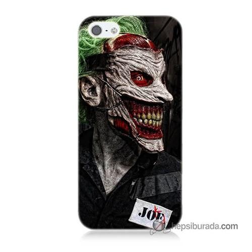 Teknomeg İphone 5S Kapak Kılıf Joker Joe Baskılı Silikon
