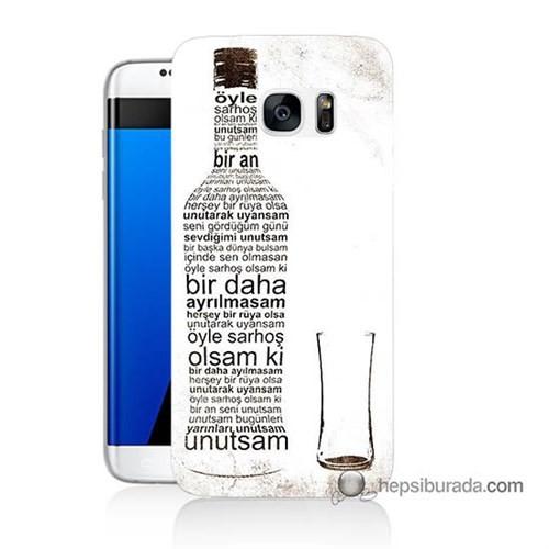 Teknomeg Samsung Galaxy S7 Edge Kapak Kılıf Rakı Şişesi Baskılı Silikon