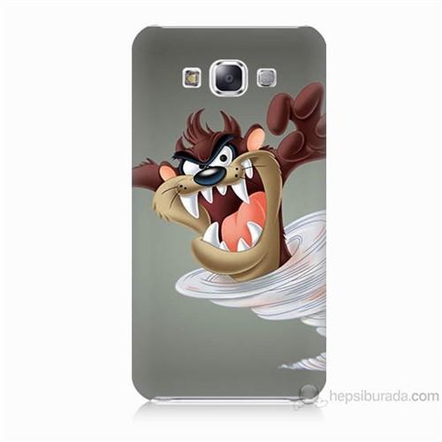 Teknomeg Samsung Galaxy E5 Kapak Kılıf Tazmanya Canavarı Baskılı Silikon
