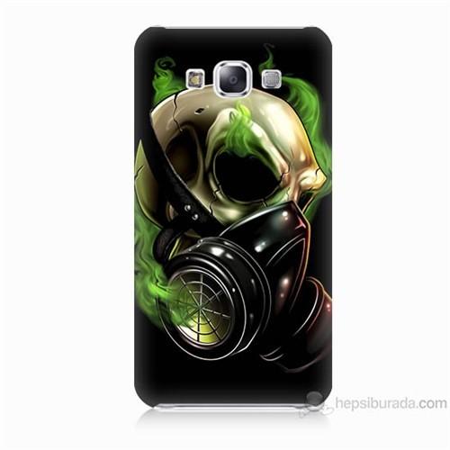 Teknomeg Samsung Galaxy E7 Kapak Kılıf Ölüm Maskesi Baskılı Silikon