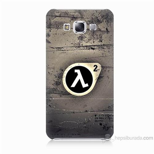 Teknomeg Samsung Galaxy E7 Kapak Kılıf Half Life Baskılı Silikon