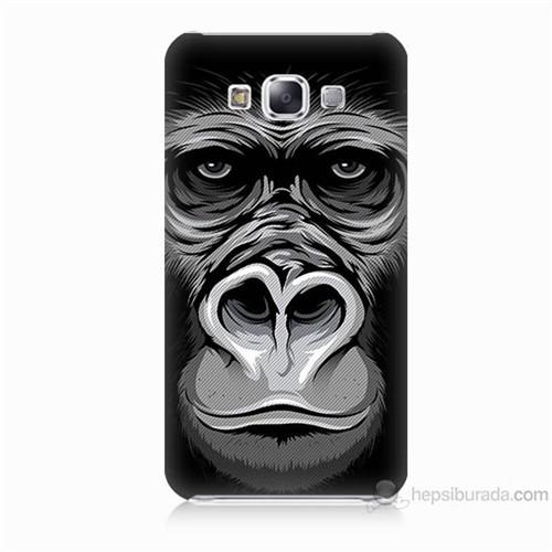 Teknomeg Samsung Galaxy E7 Kapak Kılıf Goril Baskılı Silikon