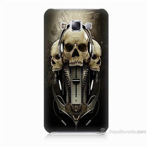 Teknomeg Samsung Galaxy E7 Kapak Kılıf İskeletler Baskılı Silikon