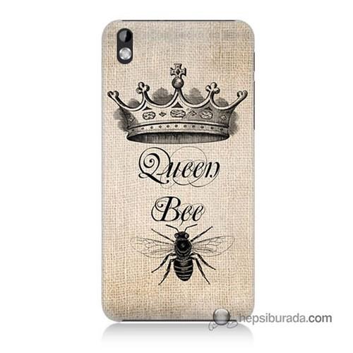 Teknomeg Htc Desire 816 Kılıf Kapak Queen Bee Baskılı Silikon