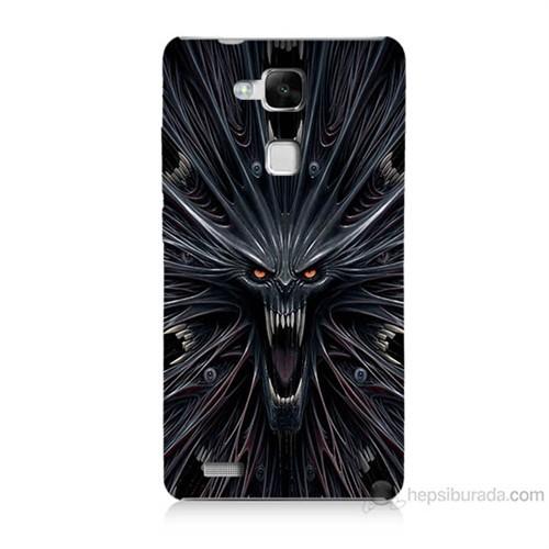 Teknomeg Huawei Ascend Mate 7 Korku Canavarı Baskılı Silikon Kılıf