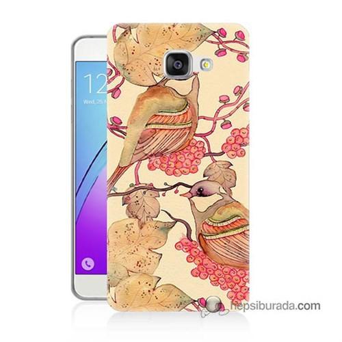 Teknomeg Samsung Galaxy A7 2016 Kılıf Kapak Kuşlar Baskılı Silikon