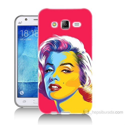 Teknomeg Samsung Galaxy J7 Kapak Kılıf Pop-Art Resim Baskılı Silikon