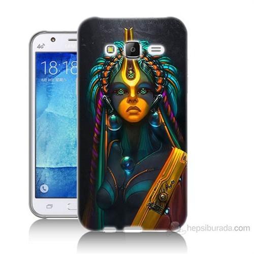 Teknomeg Samsung Galaxy J7 Kapak Kılıf İllustrations Resim Baskılı Silikon