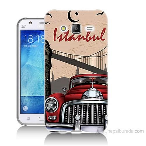 Teknomeg Samsung Galaxy J7 Kapak Kılıf İstanbul Baskılı Silikon