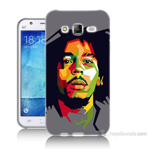 Teknomeg Samsung Galaxy J7 Kapak Kılıf Bob Marley Baskılı Silikon
