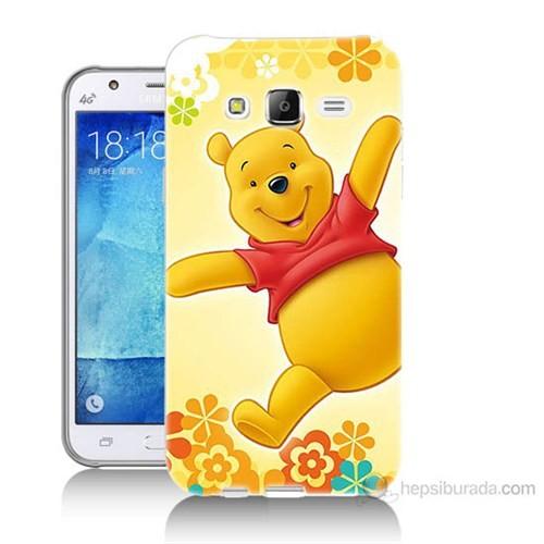 Teknomeg Samsung Galaxy J7 Kapak Kılıf Ayı Winnie Baskılı Silikon