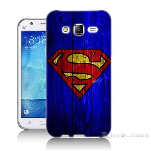 Teknomeg Samsung Galaxy J7 Kapak Kılıf Superman Baskılı Silikon