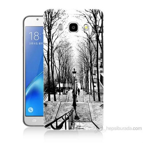 Teknomeg Samsung Galaxy J7 2016 Kapak Kılıf Siyah Beyaz Baskılı Silikon