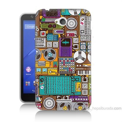 Teknomeg Sony Xperia E4G Teknoloji Baskılı Silikon Kılıf