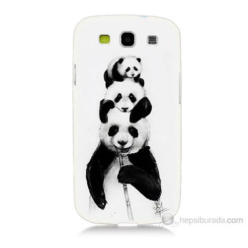Teknomeg Samsung Galaxy S3 Panda Ailesi Baskılı Silikon Kılıf