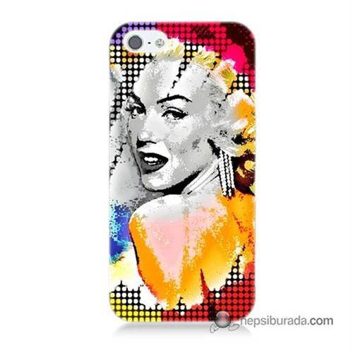 Teknomeg İphone 5S Kapak Kılıf Marilyn Monroe Baskılı Silikon