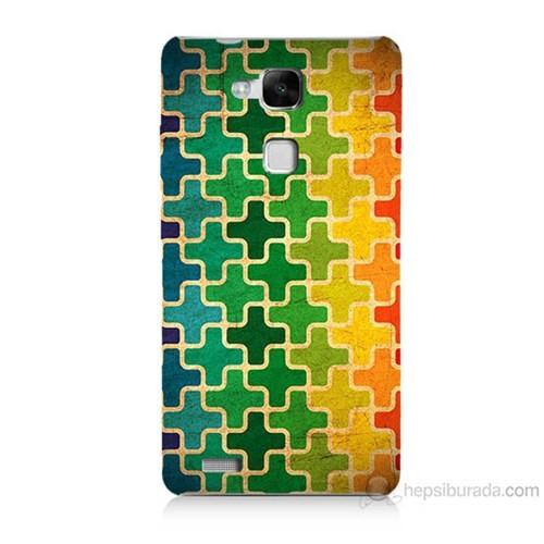 Teknomeg Huawei Ascend Mate 7 Renkli Artı Baskılı Silikon Kılıf