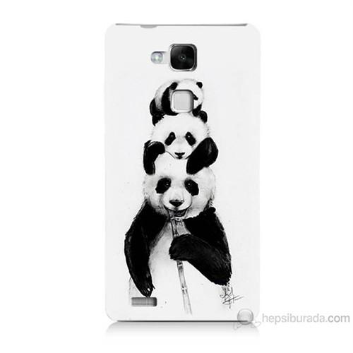 Teknomeg Huawei Ascend Mate 7 Panda Ailesi Baskılı Silikon Kılıf