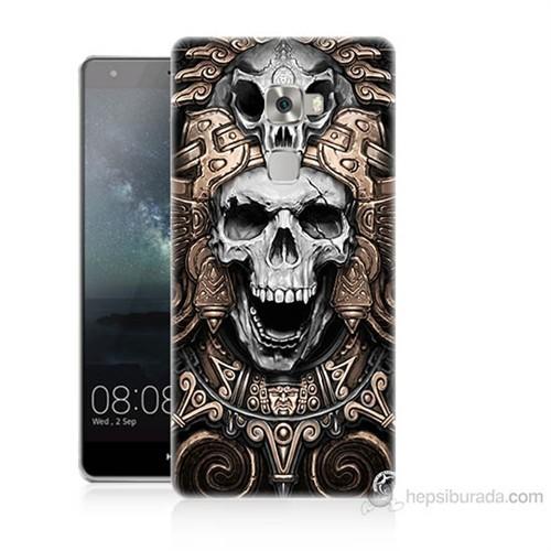 Teknomeg Huawei Ascend Mate S Kafatası Krallığı Baskılı Silikon Kılıf