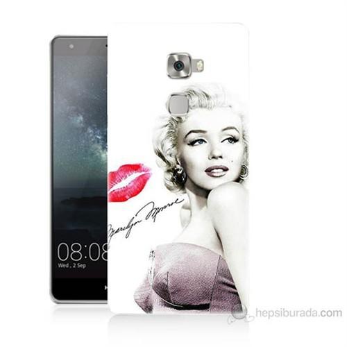 Teknomeg Huawei Ascend Mate S Marilyn Monroe Baskılı Silikon Kılıf