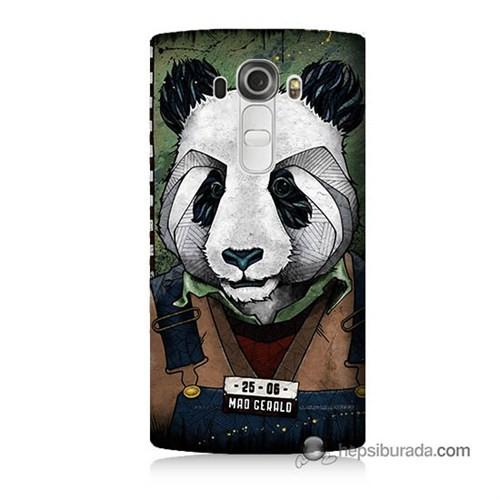 Teknomeg Lg G4 Beat Kapak Kılıf İşçi Panda Baskılı Silikon