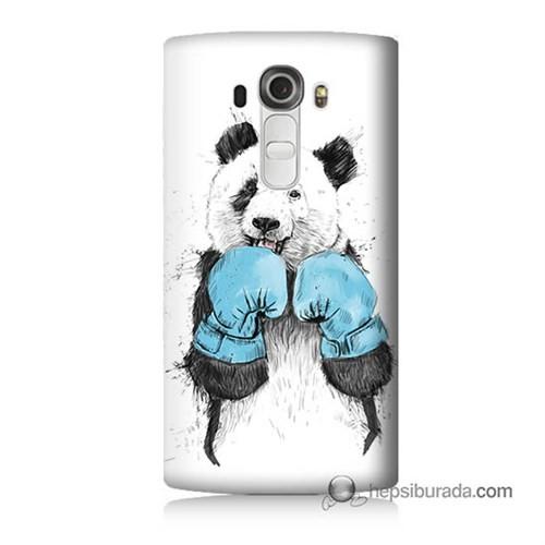 Teknomeg Lg G4 Beat Kılıf Kapak Boksör Panda Baskılı Silikon