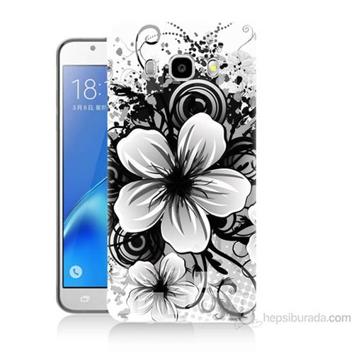 Teknomeg Samsung Galaxy J5 2016 Kapak Kılıf Manolya Baskılı Silikon