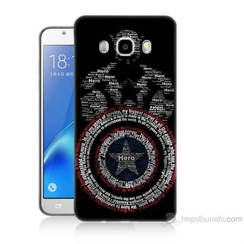 Teknomeg Samsung Galaxy J5 2016 Kapak Kılıf Kaptan Amerika Baskılı Silikon
