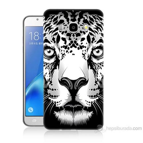 Teknomeg Samsung Galaxy J5 2016 Kapak Kılıf Kaplan Baskılı Silikon
