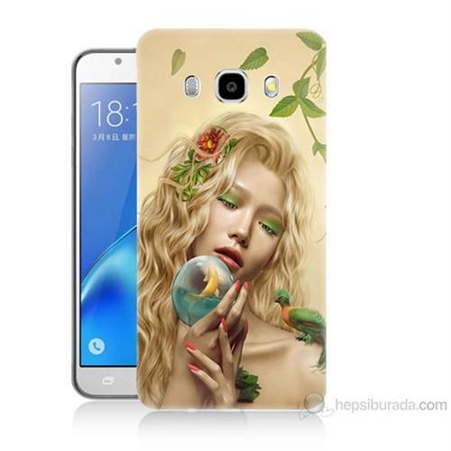 Teknomeg Samsung Galaxy J5 2016 Kapak Kılıf Sade Kadın Baskılı Silikon