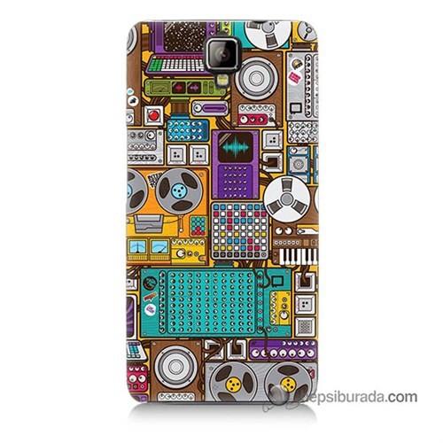 Teknomeg General Mobile Discovery 2 Plus Kılıf Kapak Teknoloji Baskılı Silikon