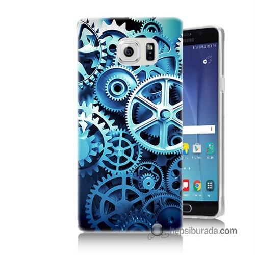 Teknomeg Samsung Galaxy Note 5 Kapak Kılıf Çarklar Baskılı Silikon