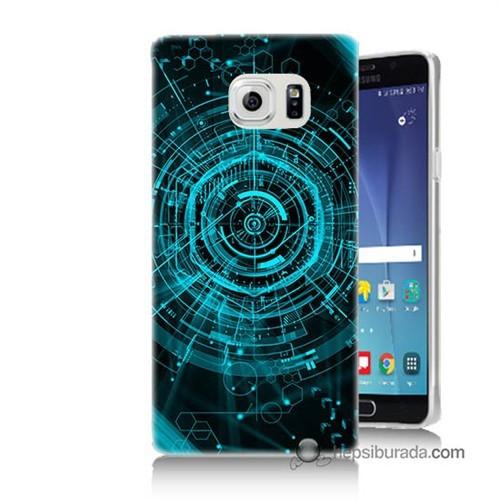Teknomeg Samsung Galaxy Note 5 Kapak Kılıf Asit Baskılı Silikon