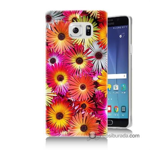 Teknomeg Samsung Galaxy Note 5 Kılıf Kapak Kasımpatı Baskılı Silikon