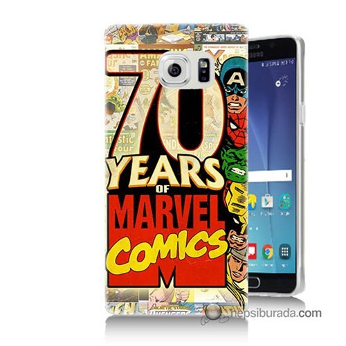 Teknomeg Samsung Galaxy Note 5 Kılıf Kapak Marvel Karakterleri Baskılı Silikon