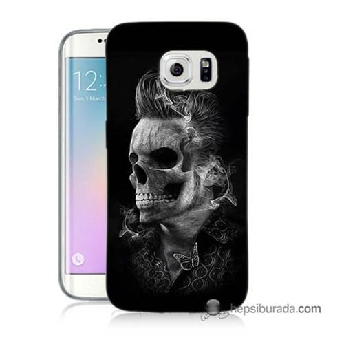 Teknomeg Samsung Galaxy S6 Edge Kapak Kılıf Elvis Presley Efsanesi Baskılı Silikon